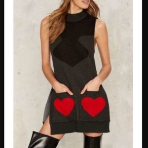 Nasty Gal Card Print Sweater Dress!